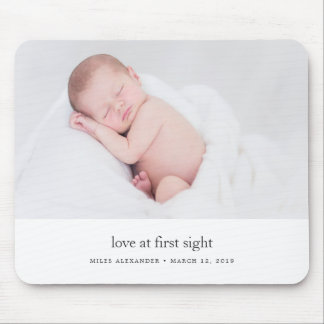 Love at First Sight Baby Photo Mouse Pad