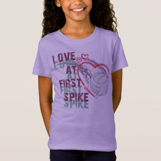 LOVE AT FIRST SPIKE VOLLEYBALL T-SHIRT