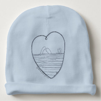 Love at first swim baby beanie