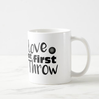 Love at First Throw, Shot Put Throw Coffee Mug Cup