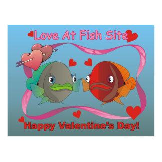 Love At Fish Site Postcard