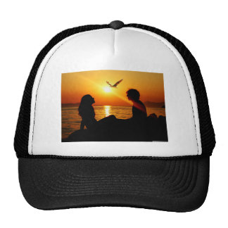 Love At Sunset Mesh Hats