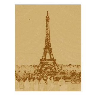 Love at the Eiffel tower Postcard