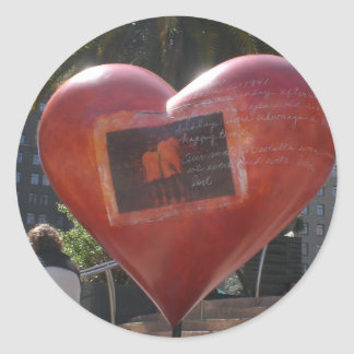 Love at the park SFO Round Sticker