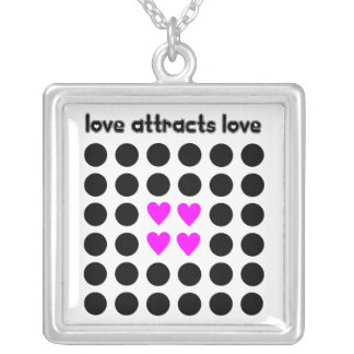 Love attracts Love Silver Plated Necklace