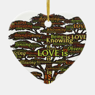 love attributes ceramic ornament