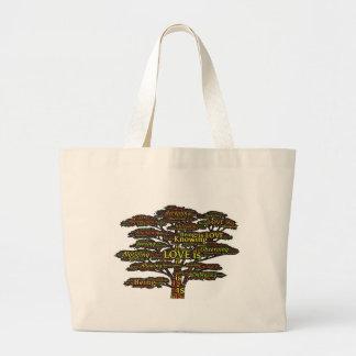 love attributes large tote bag
