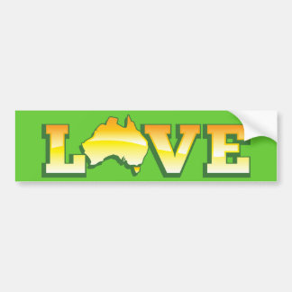 LOVE Australia Aussie Love Heart Map AWESOME! Bumper Sticker