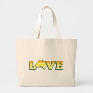 LOVE Australia Aussie Love Heart Map AWESOME! Large Tote Bag