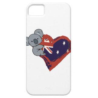 Love Australia - Koala Hugging Flag iPhone 5 Cover