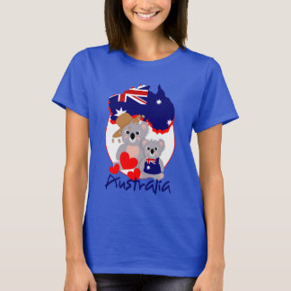 Love Australian koala Bears Super Cute Graphic T-Shirt