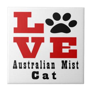 Love Australian Mist Cat Designes Ceramic Tiles