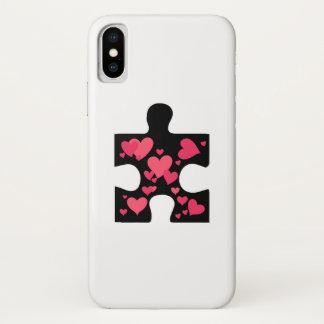 Love Autism Awareness Gift iPhone X Case