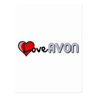 Love AVON Postcard