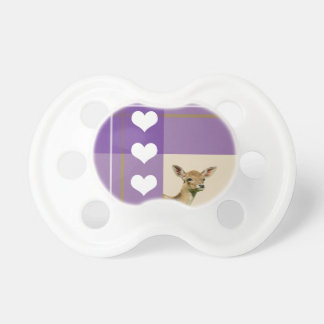 Love baby fawn pacifiers