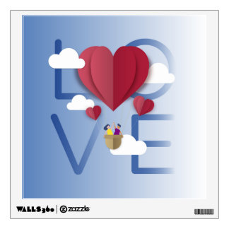 Love background  in paper style Wall Decal