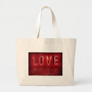 Love Background Large Tote Bag
