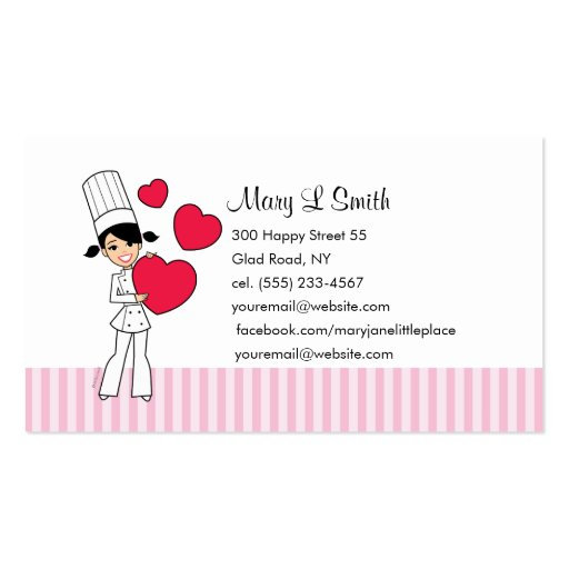 Love Baking Personal Calling Card - Customized Business Card Template