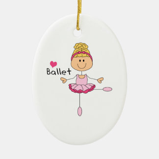 LOVE BALLET Double-Sided OVAL CERAMIC CHRISTMAS ORNAMENT