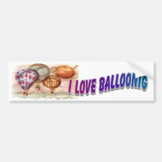 Love Ballooning Bumper Sticker