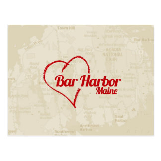 Love Bar Harbor, ME Postcard