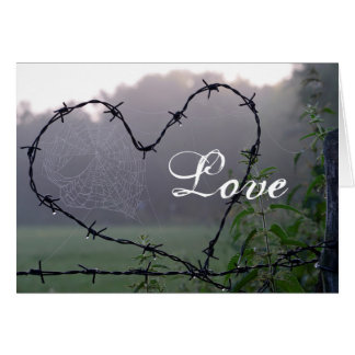 Love Barbed Wire Country Life Greeting Card