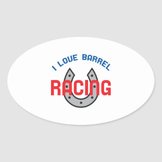 LOVE BARREL RACING OVAL STICKER