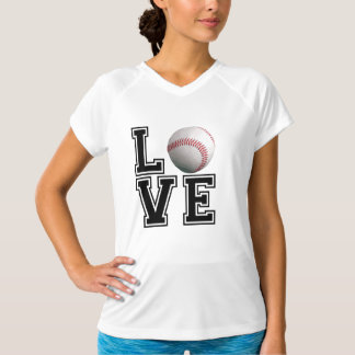Love Baseball College Style T-Shirt