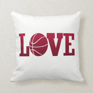 LOVE BASKETBALL THROW PILLOW