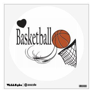 Love Basketball Wall Sticker