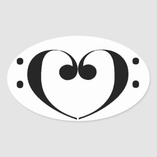 Love Bass Oval Sticker