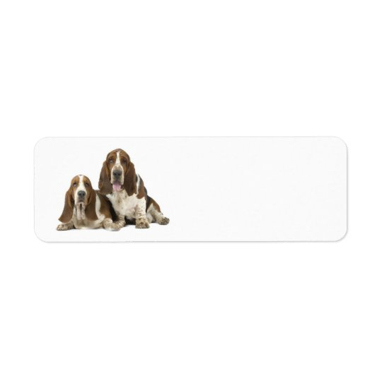 Love Basset Hounds return address label