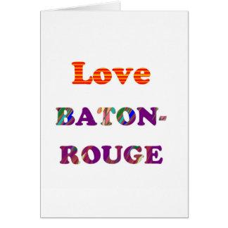 Love BATON ROUGE  Louisiana Card