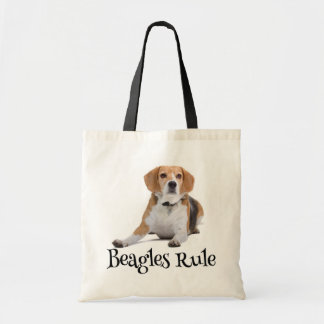 Love Beagle Puppy Dog Canine Canvas Totebag