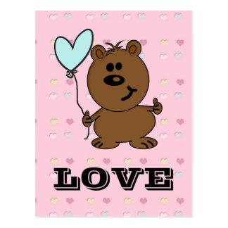 Love Bear spreading some Love Postcard
