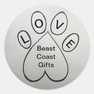 """LOVE"" Beast Coast Gifts Sticker"