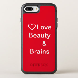 Love beauty& brain phone case