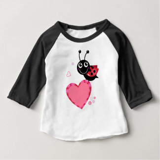 LOVE BEE with pink Heart Baby T-Shirt
