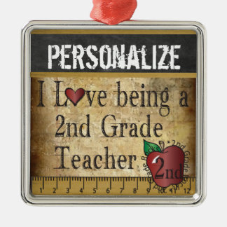 Love being a 2nd Grade Teacher Metal Ornament
