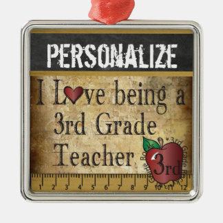 Love being a 3rd Grade Teacher | Vintage Metal Ornament