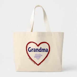 Love Being a Grandma Large Tote Bag