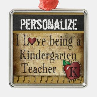 Love being a Kindergarten Teacher | Vintage Metal Ornament