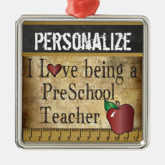 Love being a Preschool Teacher | Vintage Metal Ornament