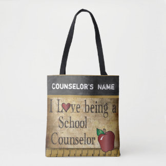 Love Being a School Counselor   DIY Name Tote Bag