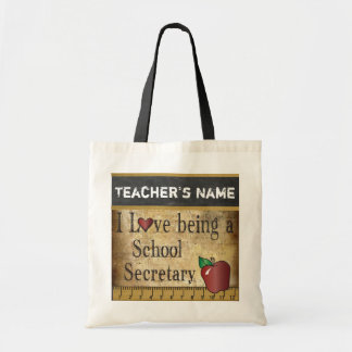 Love Being a School Secretary | DIY Name Tote Bag