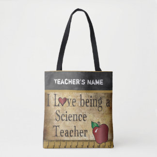 Love Being a Science Teacher | DIY Name Tote Bag