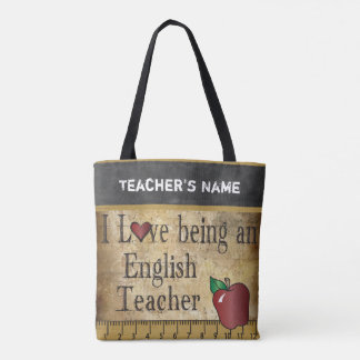 Love Being an English Teacher | DIY Name Tote Bag