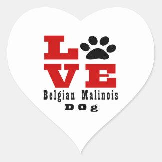 Love Belgian Malinois Dog Designes Heart Sticker