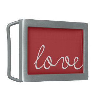 Love Belt Buckles and Text Belt Buckles | Red