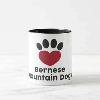 Love Bernese Mountain Dog mug